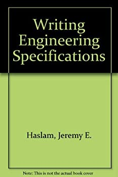 Hardcover Writing Engineering Specifications: A Guide to Content, Style and Layout Book
