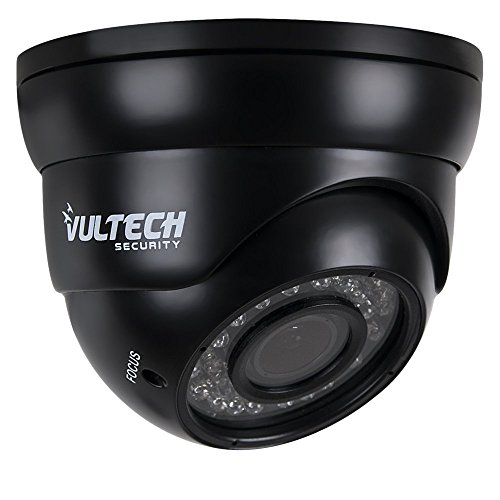 VulTech Security CM-DM960AHDV-N Telecamera, Dome, Varifocale, AHD, 1/4', 1.3 mpx, 960 p, 2.8-12 mm, 36 Pezzi, LED IR, 35 m, Nero