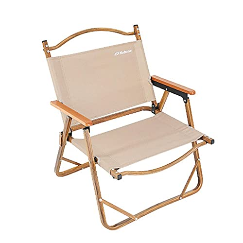 gormyel Fishing Chair Camping Chair, Folding Camping Chair Leisure Folding Beach Recliner Outdoor Director Chair with Beech Handrails,Metal Bracket,for Park,Garden,Camp,Fishing Comfortable Rest