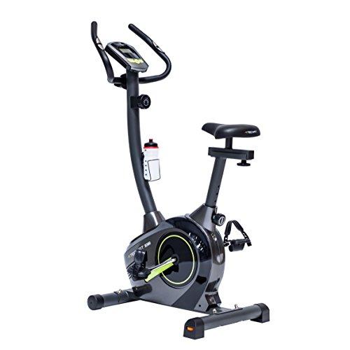 TechFit B380 Bicicletta di Fitness, Cyclette Magnetica per Esercizi, Cyclette Dispositivo di Ripristino con Sella Regolabile, Bici Cardio, Sensori a impulsi e Monitor LCD