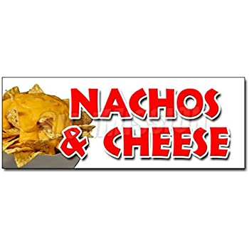 NACHOS /& CHEESE DECAL sticker snack melted mexican food tacos tex mex