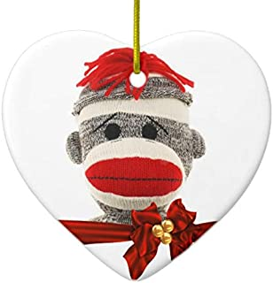 mini sock monkey ornament