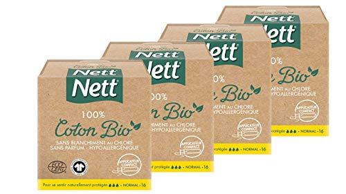 Nett NETT Bio Tamponi con applicatore normale, 4 X 16 pezzi