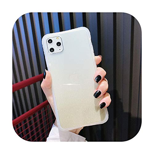 phonecase - Carcasa transparente para iPhone 11, 11, Pro, Max, Xs, Max, 7, 8, 6, 6S Plus, X, Plus, con purpurina
