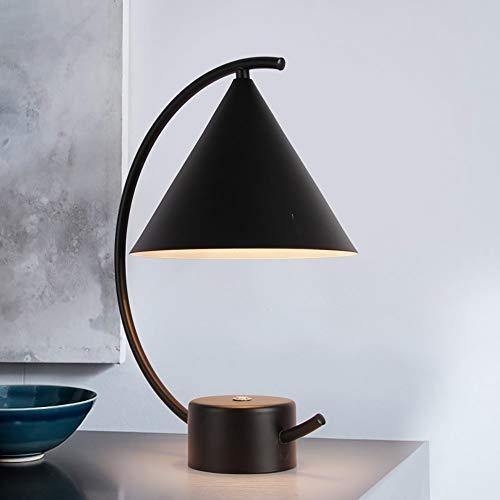 RGF Creative Modern Simple LED Blanco/Negro Metal E27 - Lámpara de Mesa/luz Nocturna (Color : Black, Size : A)