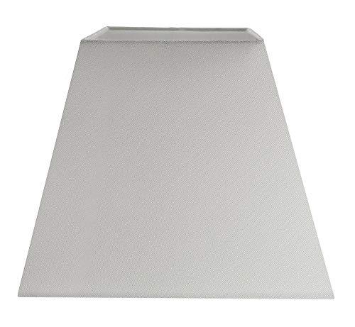 Pantalla de lámpara cuadrada imperio de 10'de tela de lino gris paloma contemporánea y elegante por Happy Homewares