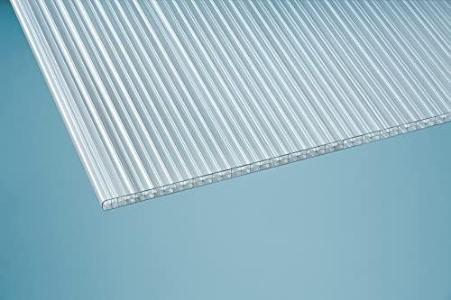 Stegplatte 16mm klar X-Design Polycarbonat Hohlkammerplatte Doppelsteg farblos 1200 x 2500 mm