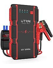 UTRAI ジャンプスターター 12V車用 13000mAh 瞬間最大出力1000A 6Lガソリンエンジン車 / 4.5Lディーゼル車対応 バッテリー ブースター スマートブースターケーブル モバイルバッテリー機能 LED緊急ライト 安全保護システム PSE承認済み 12ヶ月保証
