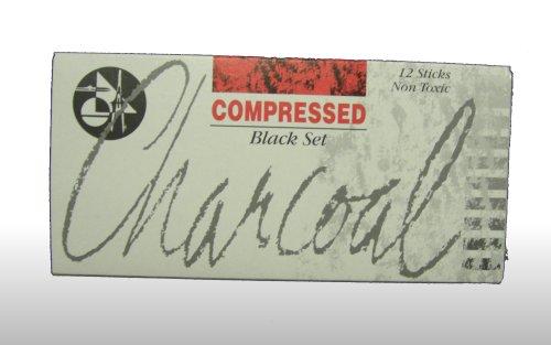 Jakar Compressed Charcoal Sticks - Black (Pack of 12)
