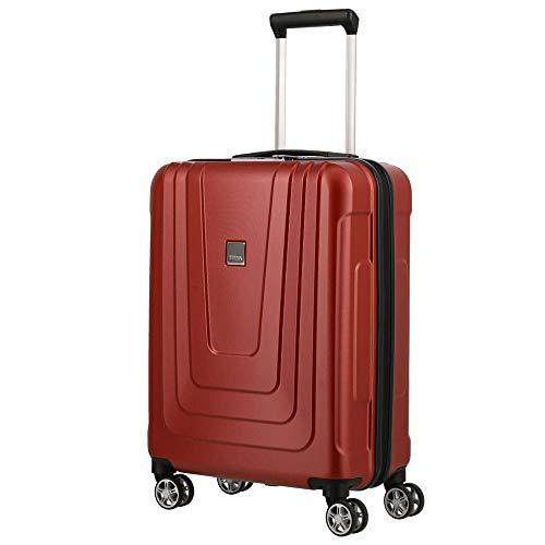 TITAN Koffer 4-Rad Bordtrolley, Handgepäck erfüllt IATA-Norm, Made in Germany Gepäck Serie X-RAY: Hartschalen Trolleys aus ultraleichtem Material, 700846-10, 55 cm, 40 Liter, atomic red (rot)