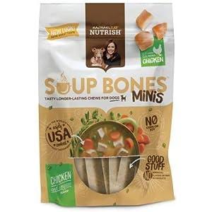 PACK OF 12 – Rachael Ray Nutrish Soup Bones Minis Dog Treats, Chicken & Veggies Flavor, 4.2oz