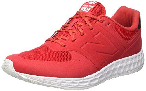 New Balance Men's 574 Classics Red/Black Running Shoe 8.5 Men US