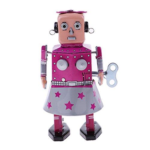 KESOTO Mecanismo Mecánico de Robot Juguetes de Cuerda Vintage Robot de Juguete de Hojalata