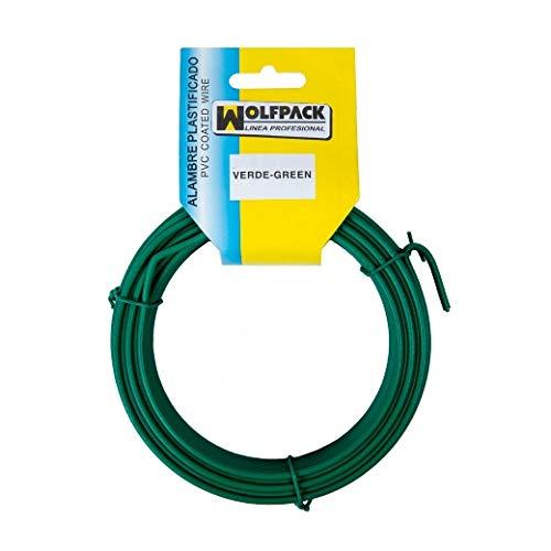 MAURER 1010514 Rouleau de Fil de Fer plastifié Vert 20 m Taille 16/2,7 mm