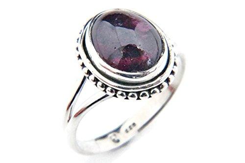 Anello argento 925 con granato (No: MRI 76), dimensioni anello:48 mm/Ø 15.3mm