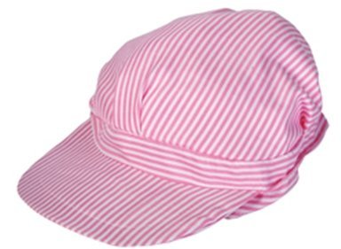 RI Novelty Girls Pink Engineer Conductor Hats Pack of 12
