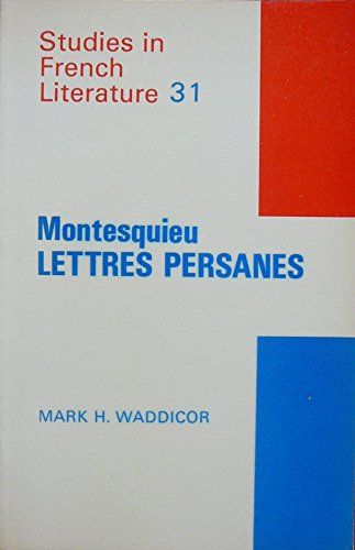 "Montesquieu: ""Lettres Persanes"""