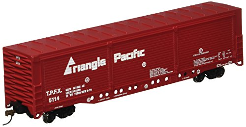 Bachmann Trains - Evans All-Door Box Car -TRIANGLE PACIFIC - HO Scale -  Bachmann Industries Inc., 18138