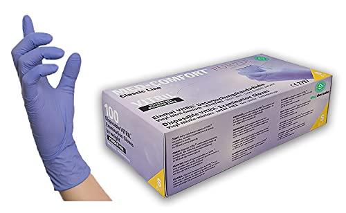 100 Stück Vitrilhandschuhe Vinyl-Nitril in Spender-Box - violett - Einweghandschuhe Einmalhandschuhe (S)