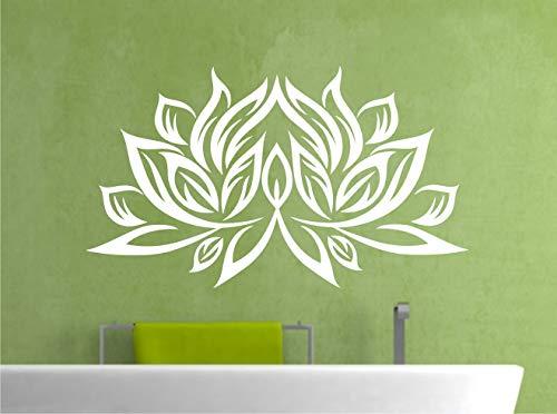 WERBUNGkreativ Wandtattoo Lotusblume Blume Blüte Lotusblüte Wandaufkleber Aufkleber Lotus Mandala 60 x 100 cm in 33 Farben matt oder glänzend