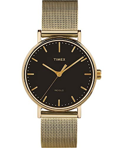 Timex Fairfield Quartz Movement Black Dial Ladies Watch