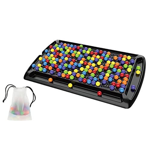 Hearthxy 241 Stücke Brettspiele Familienspiele Mit Kugeln Color Row Montessori Brettspiel Rainbow Puzzle Schach Matching Spiel Frühe Aufmerksamkeits- Und Konzentrationstraining