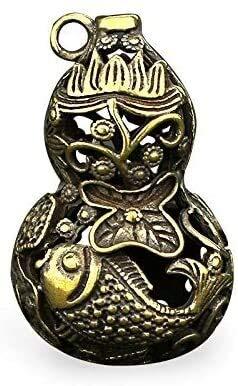 LIjiMY Esculturas Decoración para El Hogar Antiguo Bronce Retro Vintage Pure Cobre Colgante Pendiente Decoración, Colgante De Calabaza, Llavero Artesanía
