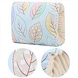Voluxe Almohada de lactancia materna, ligera almohada de lactancia suave para uso al aire libre para viajes (hojas azules)