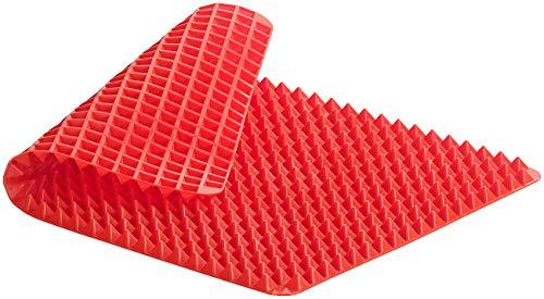 Rosenstein und Söhne Backofenmatte: Antihaftbeschichtete Silikon-Backmatte, Pyramiden-Noppen, bis 180 °C (Fettreduzierende Backmatte)