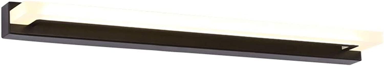 LED Spiegel Frontleuchte Wasserdicht Nebel Badezimmer Badezimmer Spiegelschrank Licht Einfach Modern Schminktisch Makeup Lampe Braun (Naturlicht) (Gre  35 58   81cm) (gre   35cm 8W)