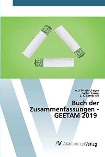 Buch der Zusammenfassungen - GEETAM 2019