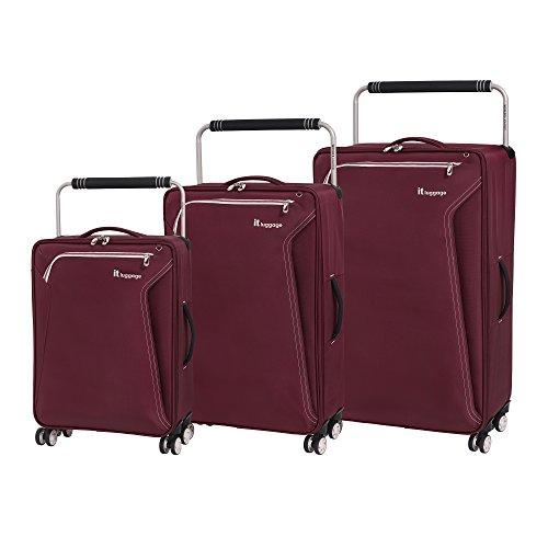 it luggage World's Lightest Accent 8 Wheel 3 Piece Set, Lipstick, One Size