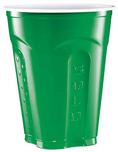 Solo Squared Cups, 18 Oz, Green, 60 Count