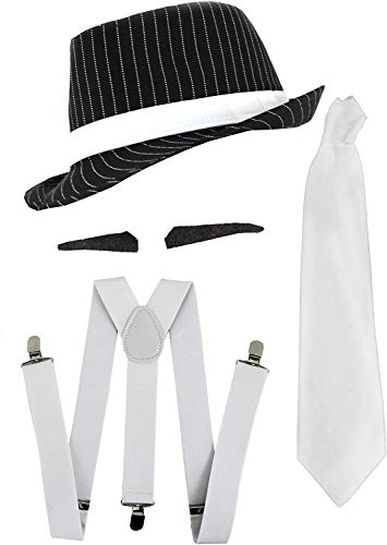 Disfraz gánster mafia Al Capone años 20, juego accesorios
