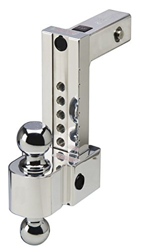 Fastway Flash ALBM DT-ALBM6800 Adjustable Dual Locking Aluminum Ball Mount with 8 Inch Drop, 2 Inch Shank, Built-in Locks, and Chrome Plated Balls
