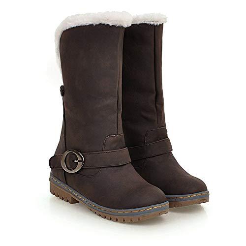 Luckhome Winter-Frauen halten warme Schnee-Aufladungen Veloursleder-Aufladungs-Schuh-Schnallen-Bügel-Aufladungen, Damen Schuhe Schuhe Damen Schuhe Damen Sommer Damen Schuhe Sommer (Braun,EU:41)