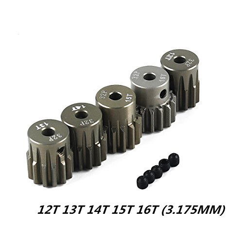 Crazepony-UK 32DP 3.175mm 12T 13T 14T 15T 16T Pinion Motor Gear Set for 1/10 RC Car Brushed Brushless Motor