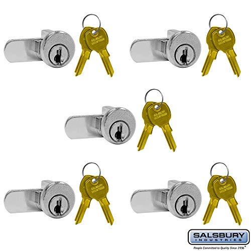 SALSBURY INDUSTRIES 3690-5 Lock for 4B+ Horizontal Mailbox Door 2 Keys PER Lock-5 Pack