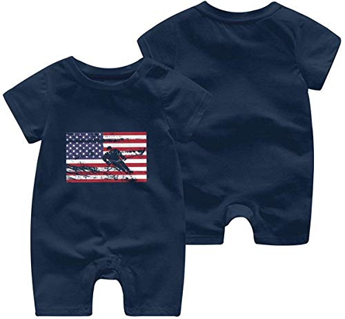 Toddler Baby Boy Girl Short Sleeved Coveralls Finland American Flag Hearts Love Toddler Jumpsuit