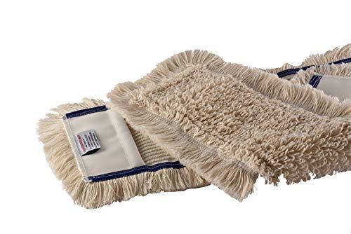 Baumwoll Wischmop 50 cm Taschen aus Polyester Ersatz für Mop Klapphalter - Wischmoppbezug , für Versiegelung Reinigung von Bodenbeläge wie Laminat, Dielen Fliesen Feudel, Bodenwischer Ersatzbezug (2)
