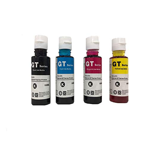 Refill Ink Replacement for HPQ GT Series Printer Cartridges(BK C M Y