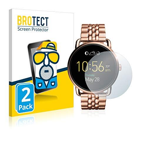 BROTECT 2X Entspiegelungs-Schutzfolie kompatibel mit Fossil Q Wander Bildschirmschutz-Folie Matt, Anti-Reflex, Anti-Fingerprint