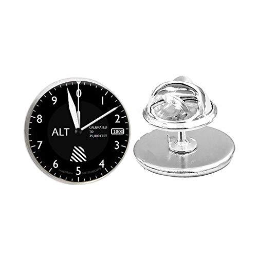 Altímeter-Pilot Jewelry-Glass Pin Brooch-Aircraft Instrument Dial, regalo de Navidad, regalo de Halloween,...