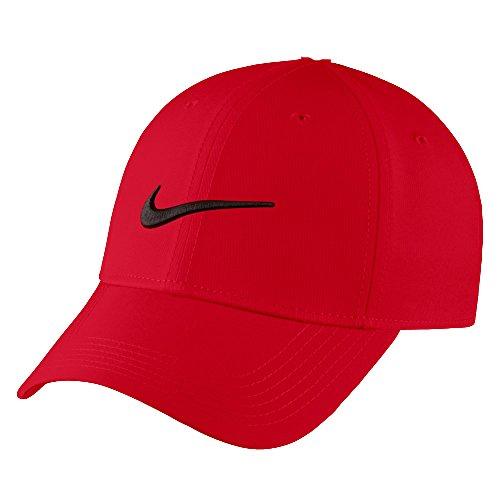 Nike - Gorra para bebé de niño Swoosh Just Do It (6 A2319-R78), color rojo y negro