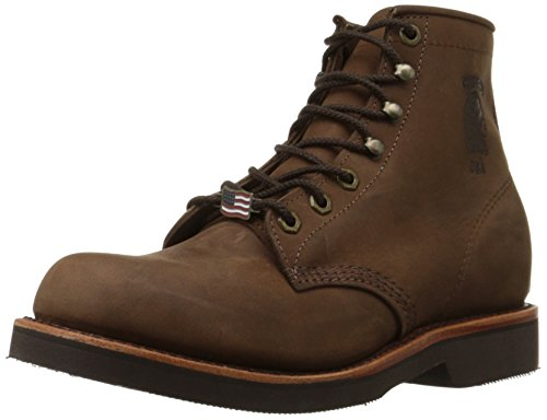 """Chippewa Men's 20065 6"""" Rugged Handcrafted Lace-Up Boot,Chocolate Apache,9.5 D US"""
