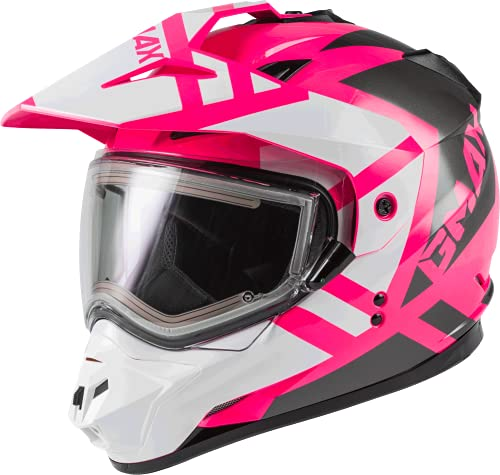 GM-11S Trapper Snow Helmet W/ELEC Shield Pink/White/Grey LG