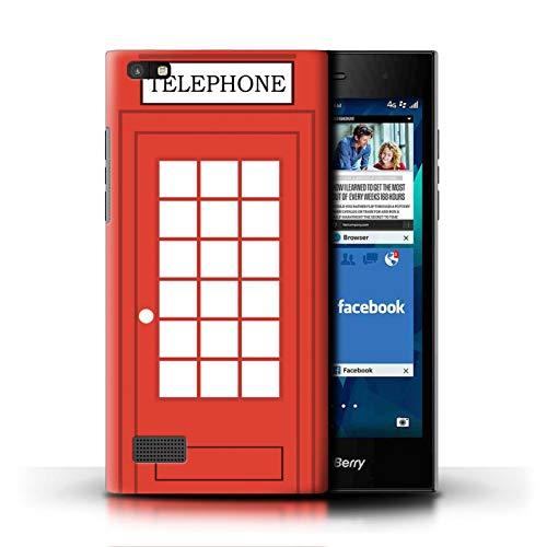 eSwish Hülle/Case für BlackBerry Leap/Klassische Rote Telefonzelle Muster/London Stadt Großbritannien Kollektion