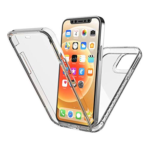 New Trent 6.7-inch iPhone 12 Pro Max Case 2020, Full-Body Protection Transparent Case with Built-in Screen Protector