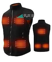 Heated Vest for Men, ARRIS Size Adjustable 7.4V Electric Warm Vest 8 Heating Panels with Battery Pack …