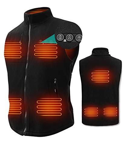 ARRIS Heated Vest for Men, 7.4V Electric Size Adjustable Heating Vest for Hunting, Camping, Fish...